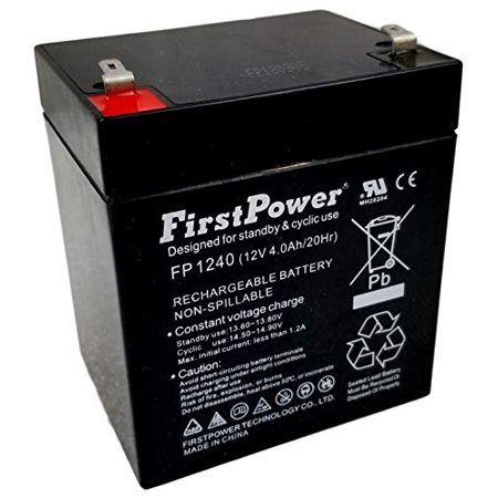 FirstPower FP1240 12V 4AH APC Back-UPS BF350-I UPS Battery FirstPower FP1240 12V 4AH APC Back-UPS BF350-I UPS BatteryFirstPower 12v 4ah Sealed Lead Acid Batteries are made with the highest quality of materials available. Our Lead Acid Batteries are typically used for: Home Alarm Systems, Uninterruptible Power Supply(UPS), Lighting Equipment, General Electronics, Home Security Systems, Emergency Systems, Medical Devices, Electric Scooters, Solar Collectors, Wheelchairs and many Other Applications. Whether it's the SECURITY of your home, the MOBILITY of your machine, or even just a personal HOBBY, be sure to use the most efficient batteries availableLength: 11.0 Width:9.0 Height:1.0Weight:3.0