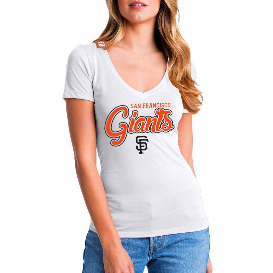 MLB San Francisco Giants Women's Short Sleeve White Graphic Tee