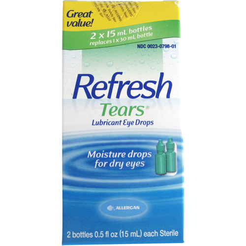 Refresh Lubricant Eye Drops Value Size Refresh Tears, 2 - .5 Oz bottles, 1 Oz.