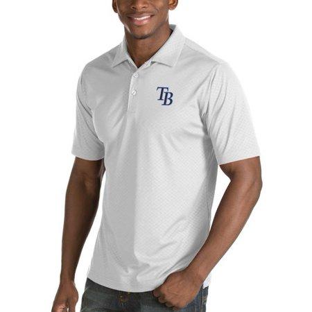 Antigua Baseball Polo Shirt (Tampa Bay Rays Antigua Inspire Desert Dry Polo - White)