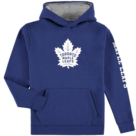 half off a2a0e 5ae12 Toronto Maple Leafs Fanatics Branded Youth Pullover Hoodie - Blue/Gray