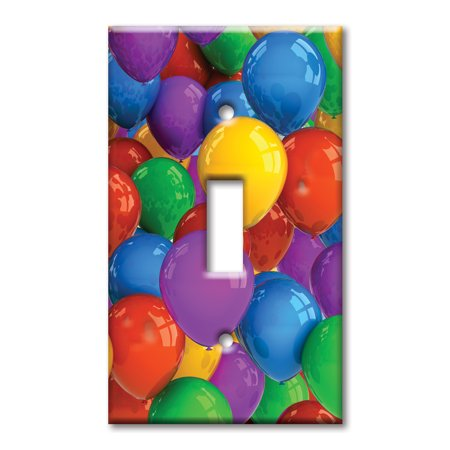 Oversized Balloons (Single Gang Toggle OVERSIZE Wall Plate - Party)