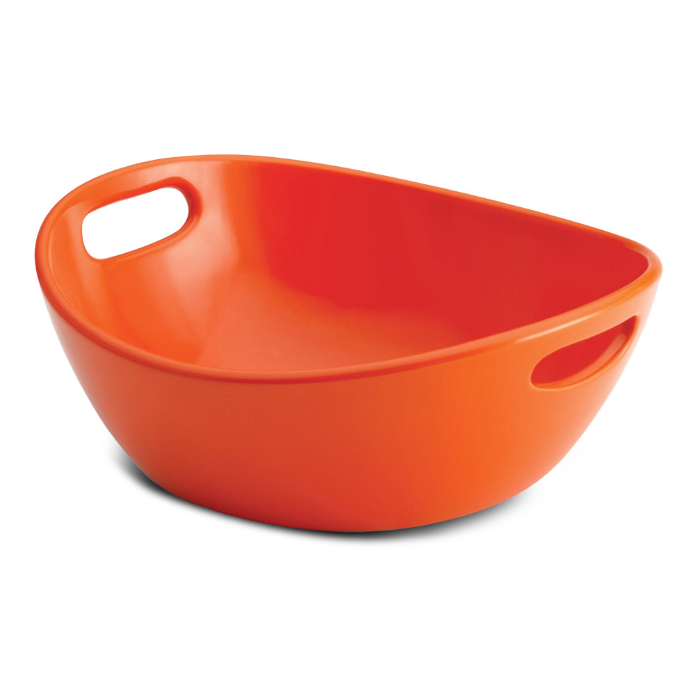 Rachael Ray Serveware 10 Round Stoneware Serving Bowl, Orange