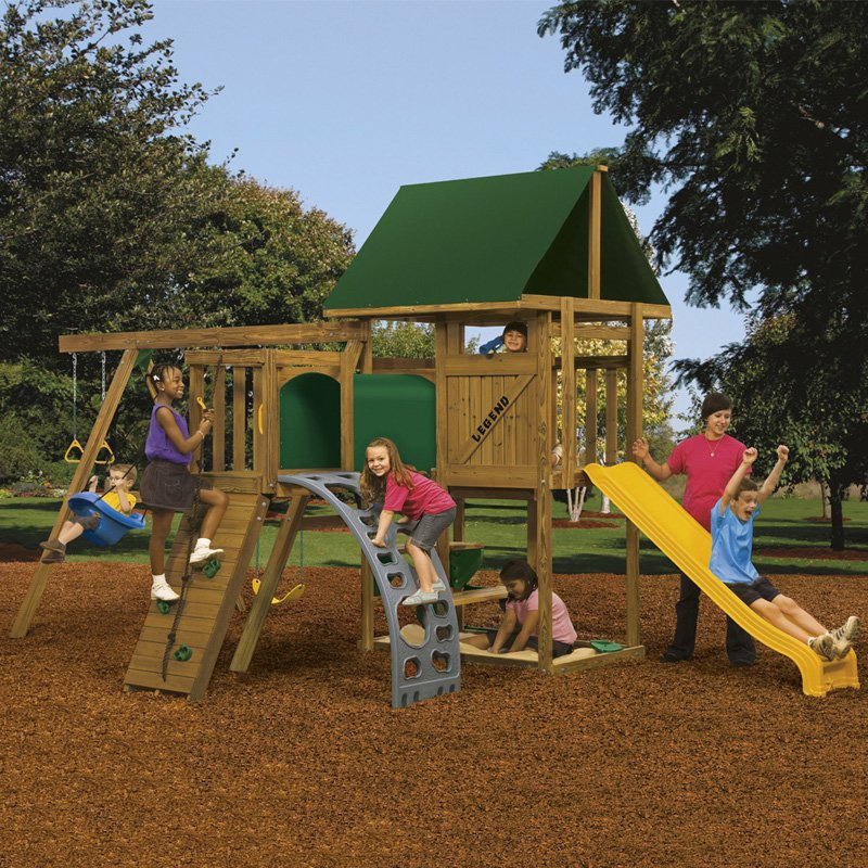 PlayStar Playsets Ready to Assemble Legend Bronze Swing Set