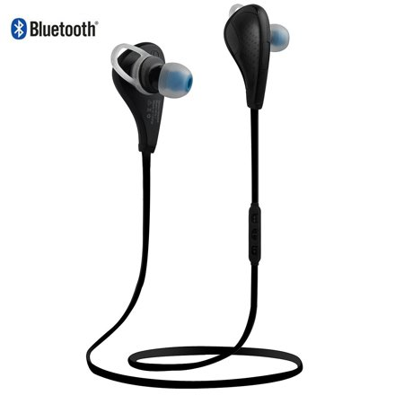 AIRWALKS Bluetooth 4.0 Headphones, In-Ear Earphones, Wireless Stereo Sport Headsets, Noise Cancelling Earbuds with Microphone for Apple Samsung HTC LG Sony Bluetooth Cellphones/Devices (Black)