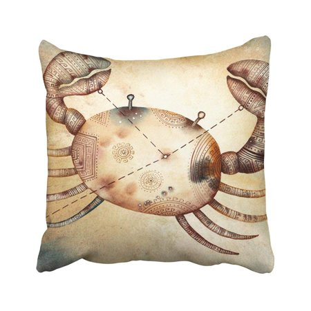 (WOPOP Orange Astrology Cancer Like Zodiac Star Signs Horoscope Crab Aquarius Scorpio Woman Aries Pillowcase Throw Pillow Cover Case 18x18 inches)