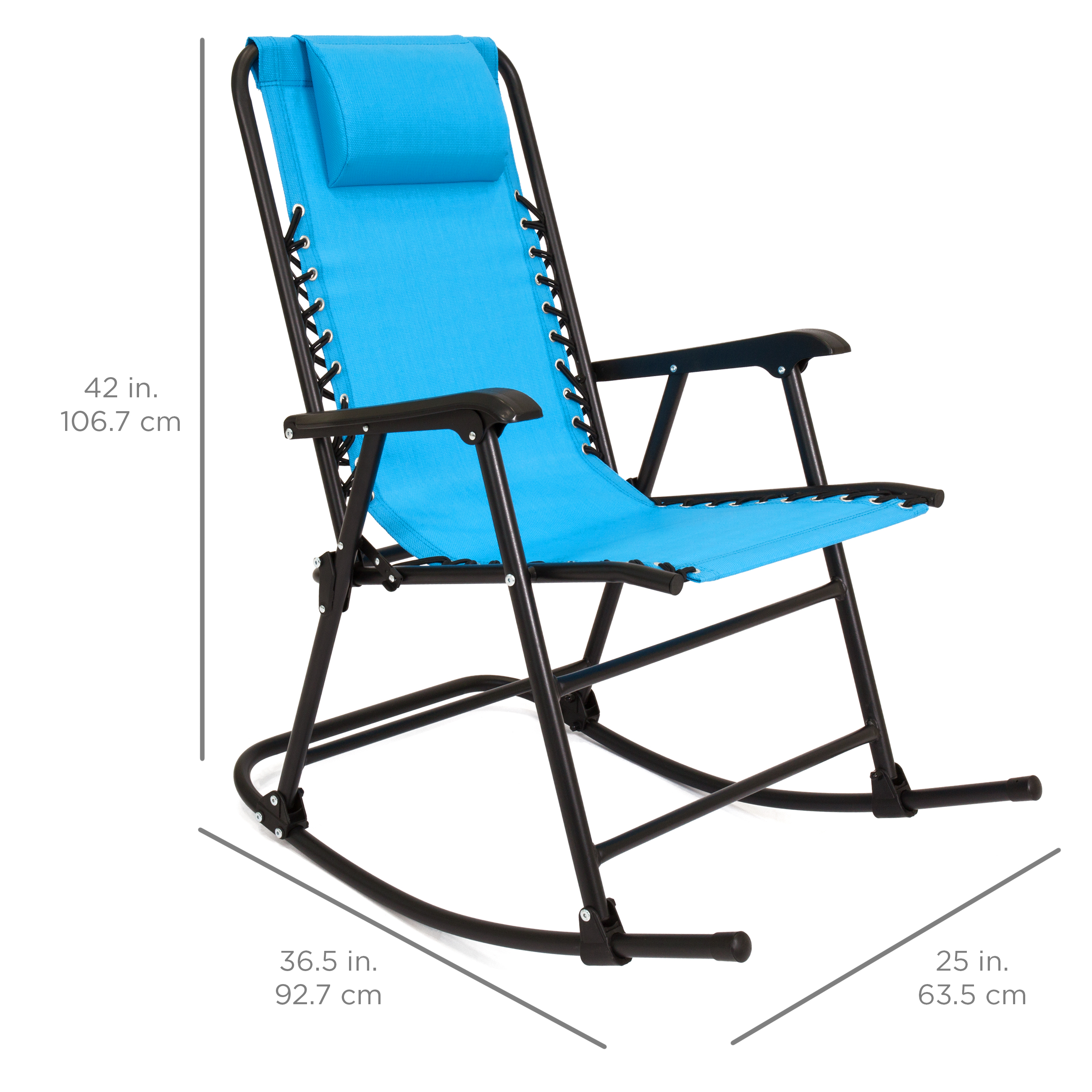 Best Choice Products Foldable Zero Gravity Rocking Patio Recliner Chair    Walmart.com