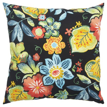 Rizzy Home Decorative Poly Filled Throw Pillow Floral 22