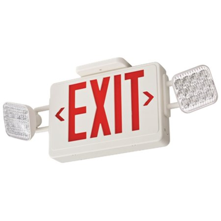 Led Exit Sign (acuity lithonia exit sign w/emergency lights,3.8w,red ecr led ho)