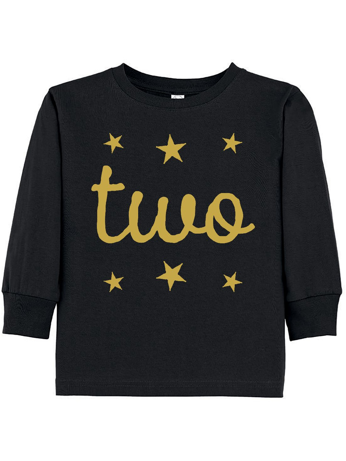 2nd Birthday Outfit Gold Two Toddler Long Sleeve T-Shirt