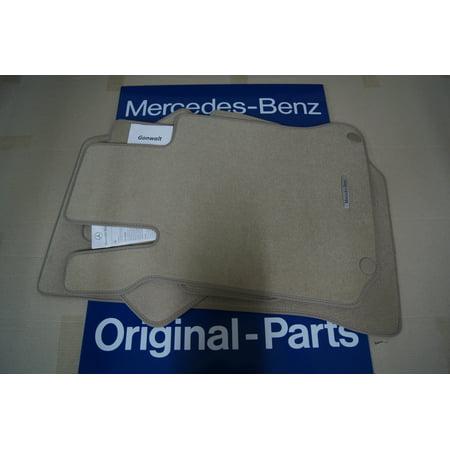 Mercedes Benz C63 AMG C350 C300 C250 Beige Carpet Floor Mats 20468021488P90 OEM