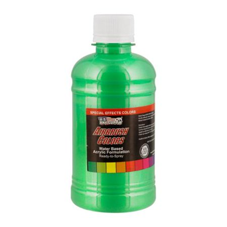 US Art Supply 8-Ounce Special Effects Green Pearl Airbrush