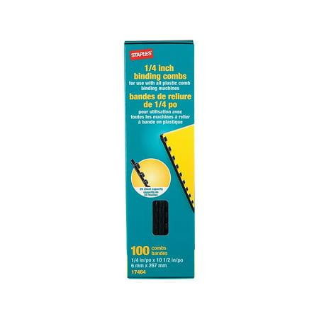 Staples Plastic Comb Binding Spines 1/4
