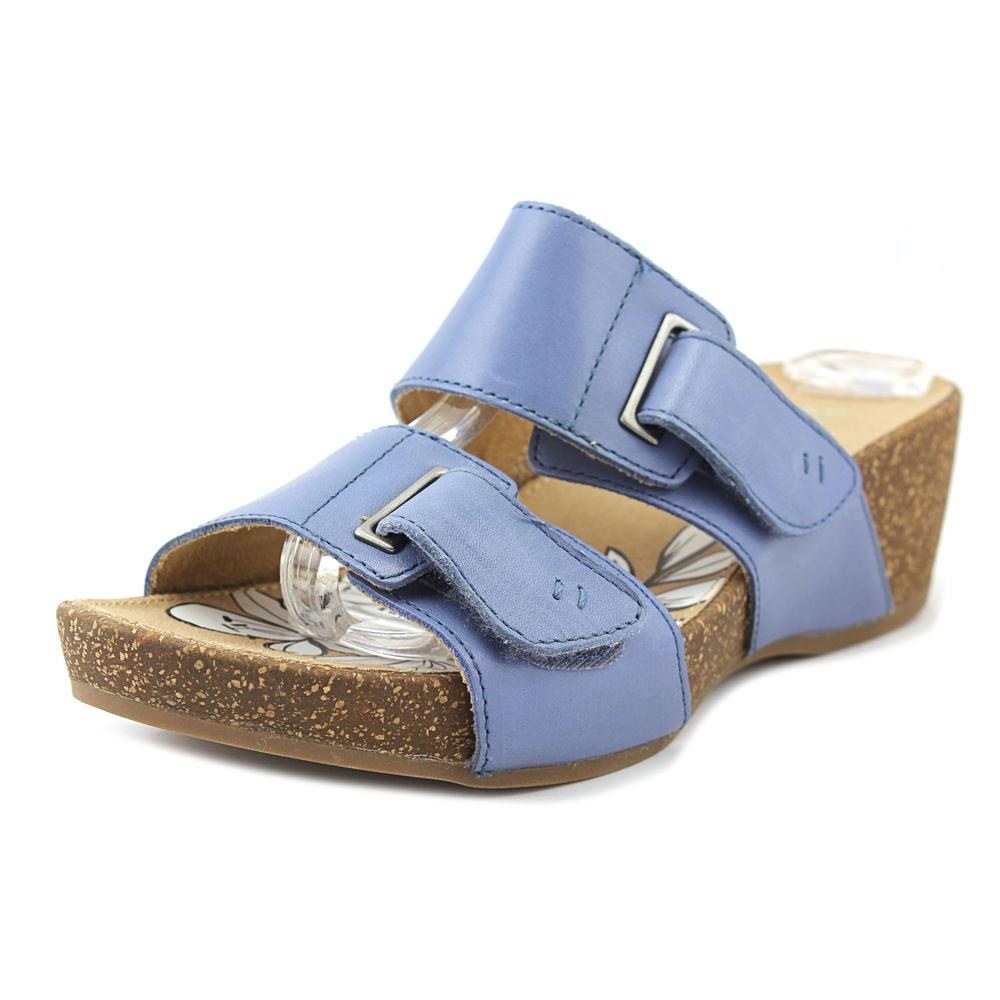 Click here to buy Naturalizer Carena Women W Open Toe Synthetic Blue Slides Sandal by Naturalizer.