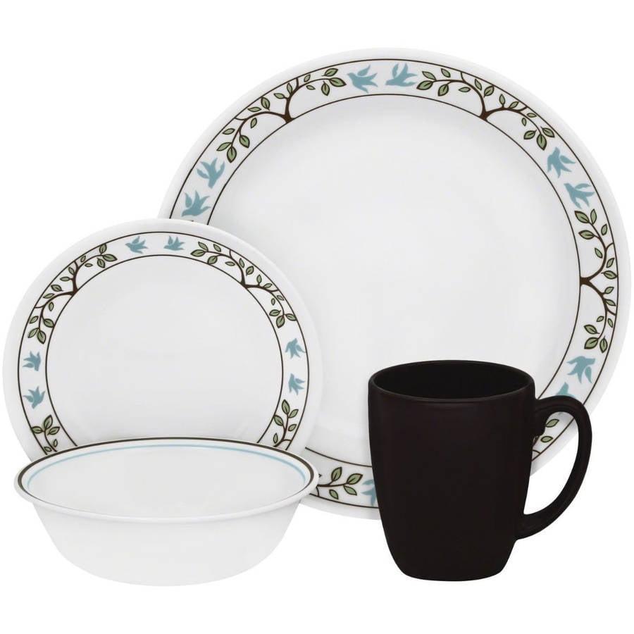sc 1 st  Walmart.com & Mainstays 12-Piece Square Glass Dinnerware Set - Walmart.com