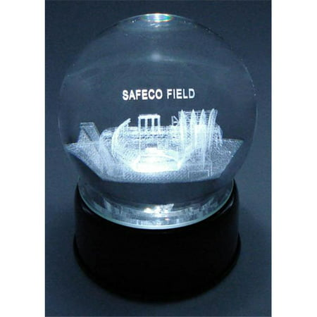 Sports Collectors Guild SafecoLES Safeco Field Etched In Crystal Globe With Lighted Musical Base (Crystal Base Etching)