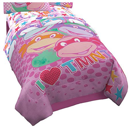 Lightweight & Washable I Love TMNT Reversible Comforter - Twin by Nickelodeon ()