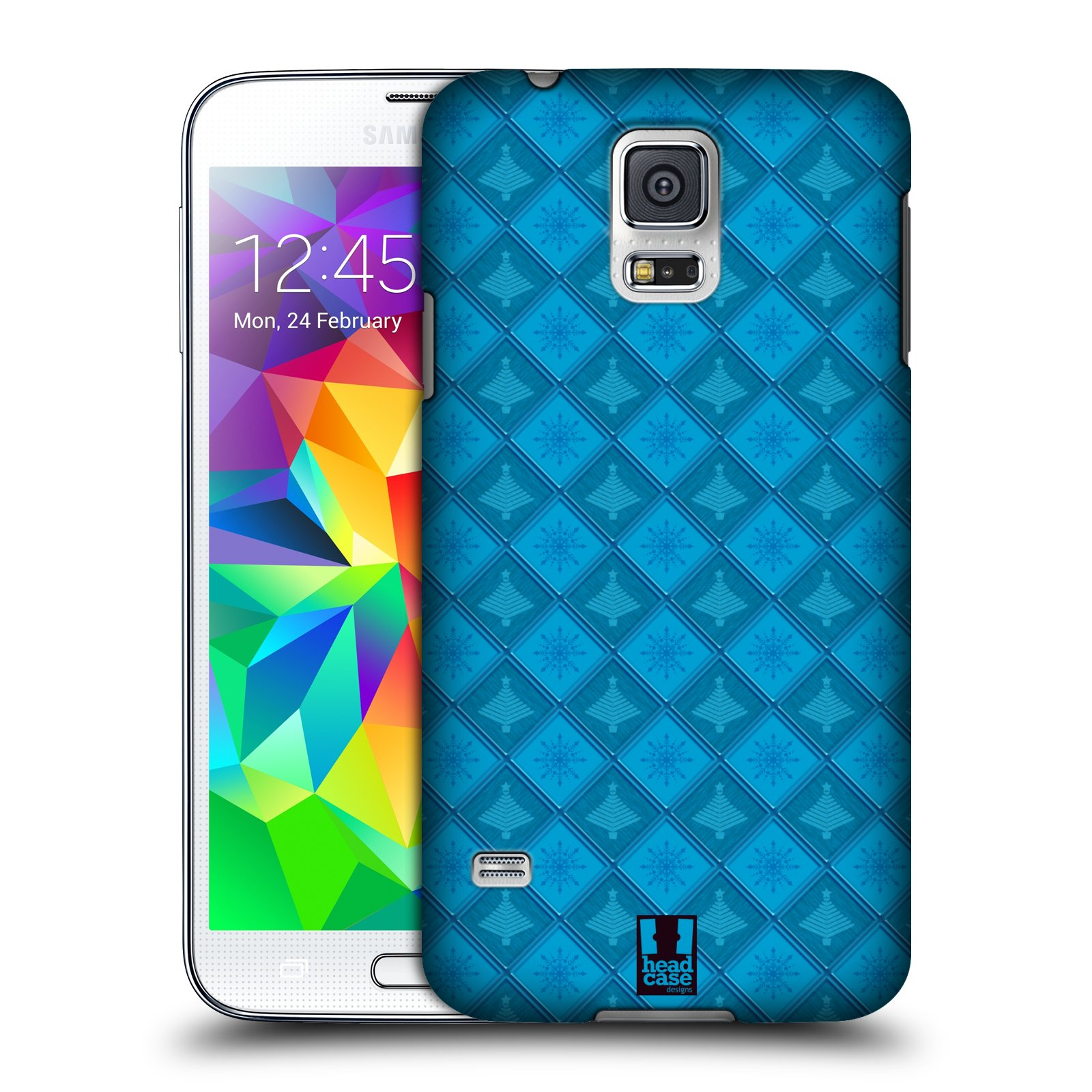 HEAD CASE DESIGNS SNOWFLAKY CHRISTMAS HARD BACK CASE FOR SAMSUNG PHONES 1