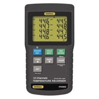GENERAL DT4208SD Temperature Recorder,Type K,12 Inputs