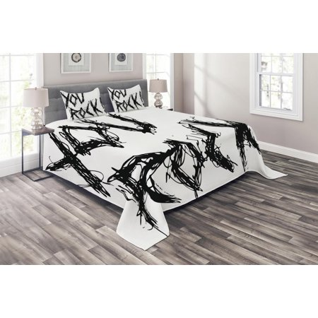 Quote Coverlet Set Motivational Phrase Positive Life Day