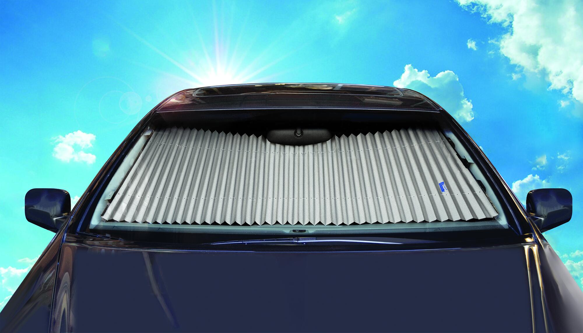 Custom Fit Retractable Winshield Sunshade for 97-04 JAGUAR XK8 - 17 Inch