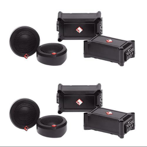 "4)  Rockford Fosgate P1T-S 1"" 240 Watt Dome Car Audio Stereo Tweeter Systems"