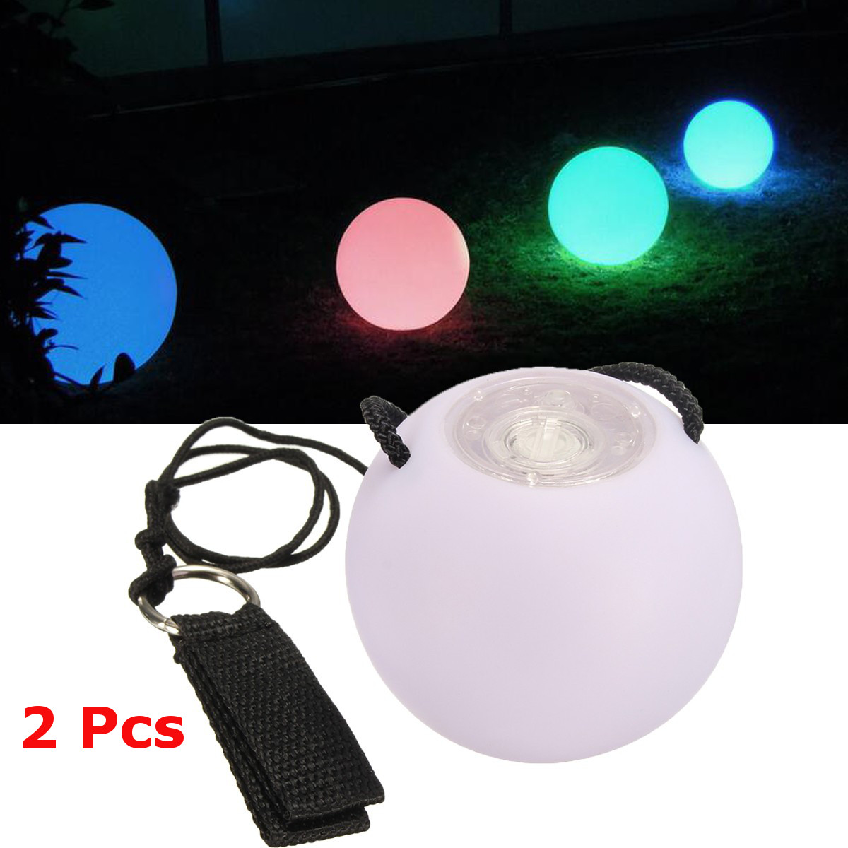 Fully LED Multi-Coloured Glow POI Thrown Balls Light up For Dance Hand Props BR