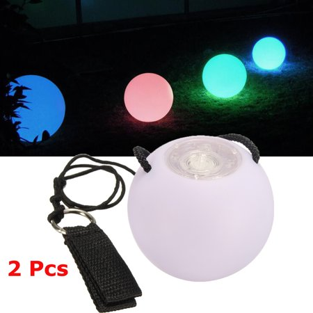 2x Professional Belly Dancers Prop Light Up Poi Balls 7 Color 9 Function LED Thrown Ball Glow Rave](Rave Light Shows)