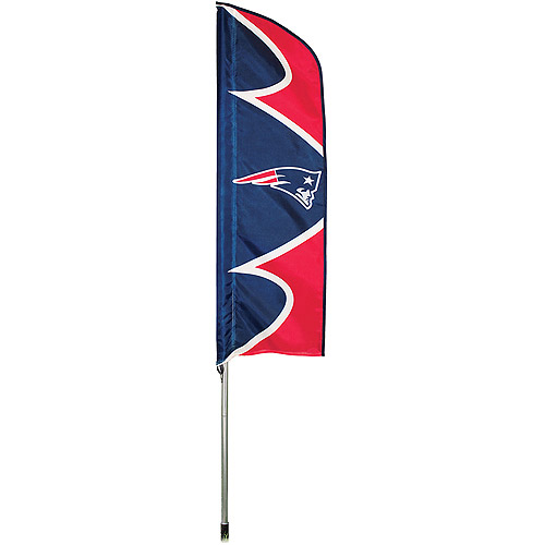 "NFL New England Patriots 42"" x 13"" Swooper Flag and 6' Pole"