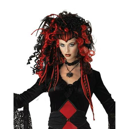 Nightmare Black Widow Wig Adult Halloween Accessory - Nightmare Ends On Halloween
