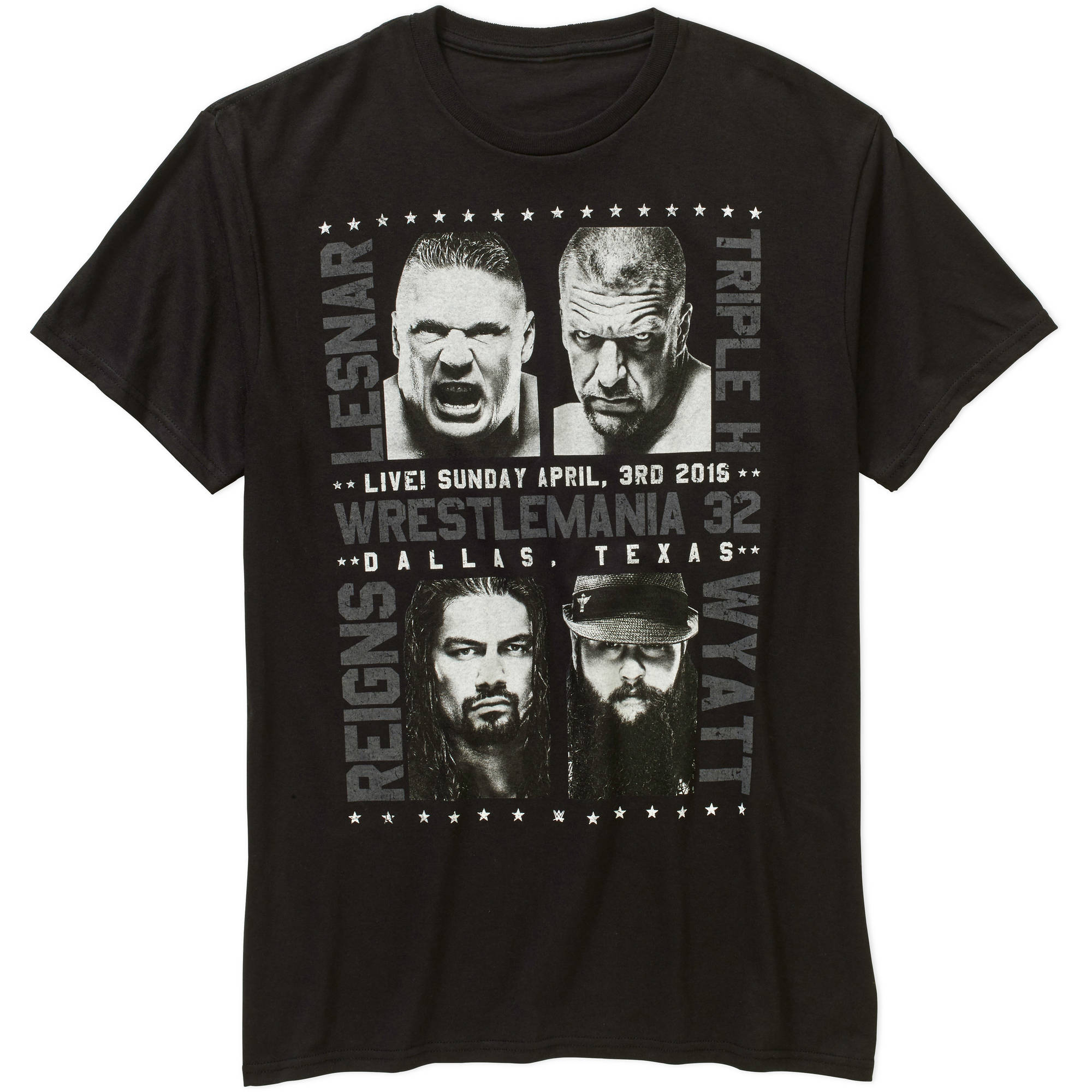 Movies Tv Wrestlemania 32 Mens Graphic T Shirt Walmart
