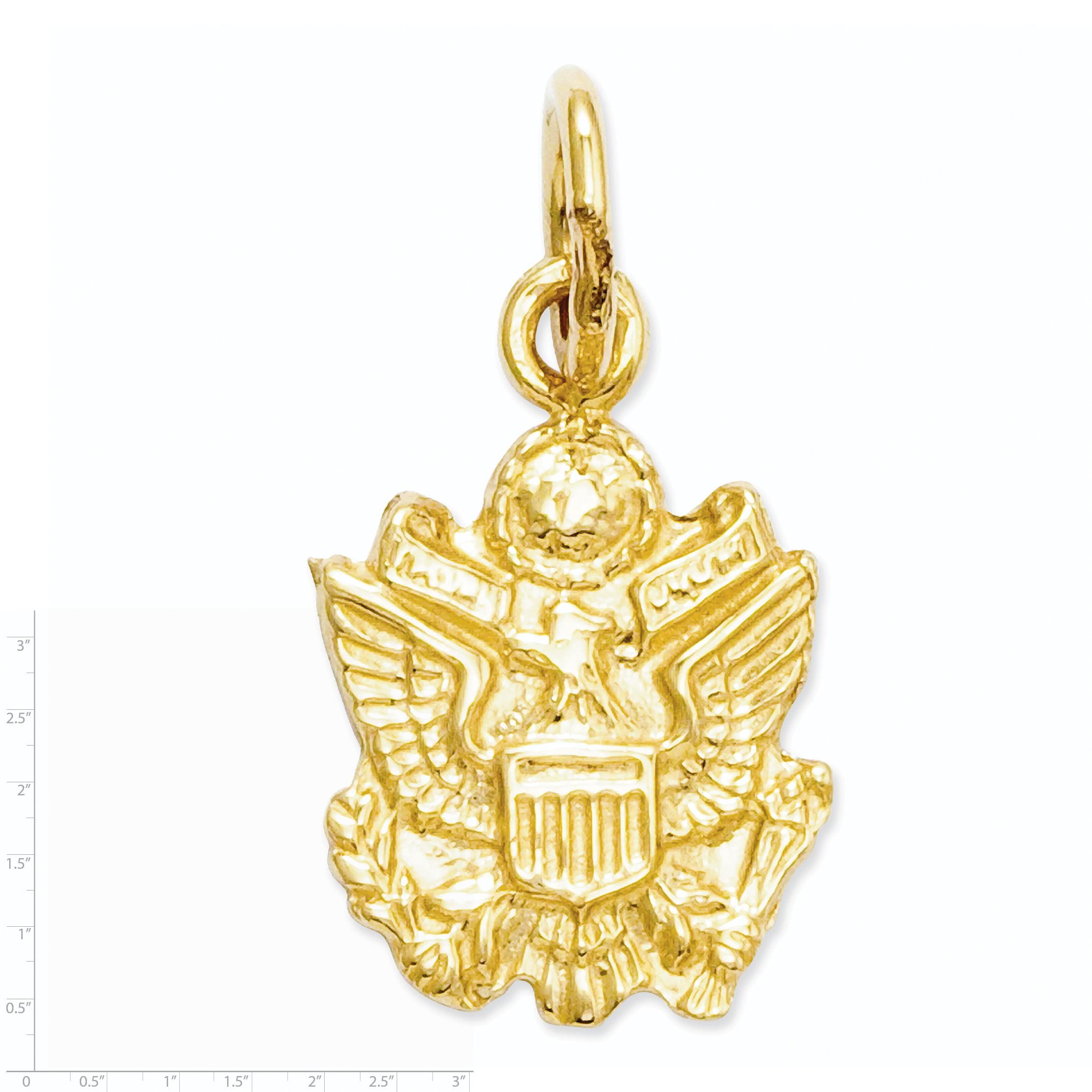 14k U. S. Army Insignia Charm A0223 (16.5mm x 9mm) - image 2 de 3