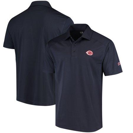 Cincinnati Reds Cutter & Buck Genre Polo with Sleeve Logo -