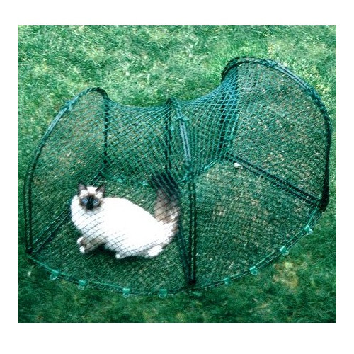 "Kittywalk Curves 2 Outdoor Cat Enclosure, Green, 48"" x 18"" x 24"""