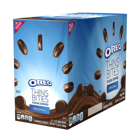 Fudge Bites - Oreo Thins Bites Fudge Dipped Original Creme, 13.6 Oz