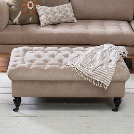 Belham Living Sandrine Tufted Storage Ottoman with Tray Table ()