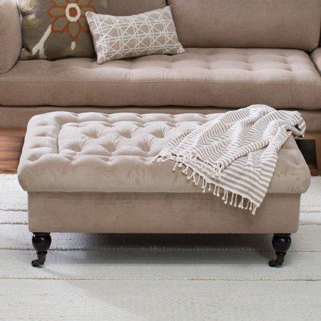Astonishing Belham Living Sandrine Tufted Storage Ottoman With Tray Ibusinesslaw Wood Chair Design Ideas Ibusinesslaworg