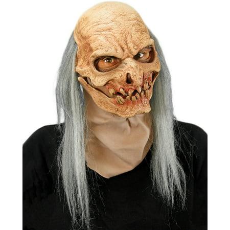 Zagone Grave Digger Undertaker Full Head Mask, Grey, One - Undertaker Halloween