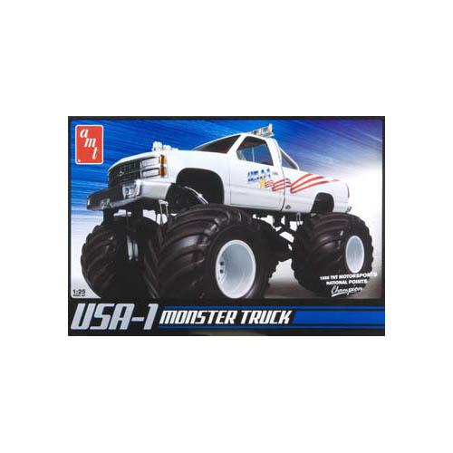 Round 2 USA 1 4x4 Monster Truck Plastic Model Kit
