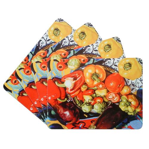 Textiles Plus Inc. Vegetable Corkback Placemat (Set of 4)