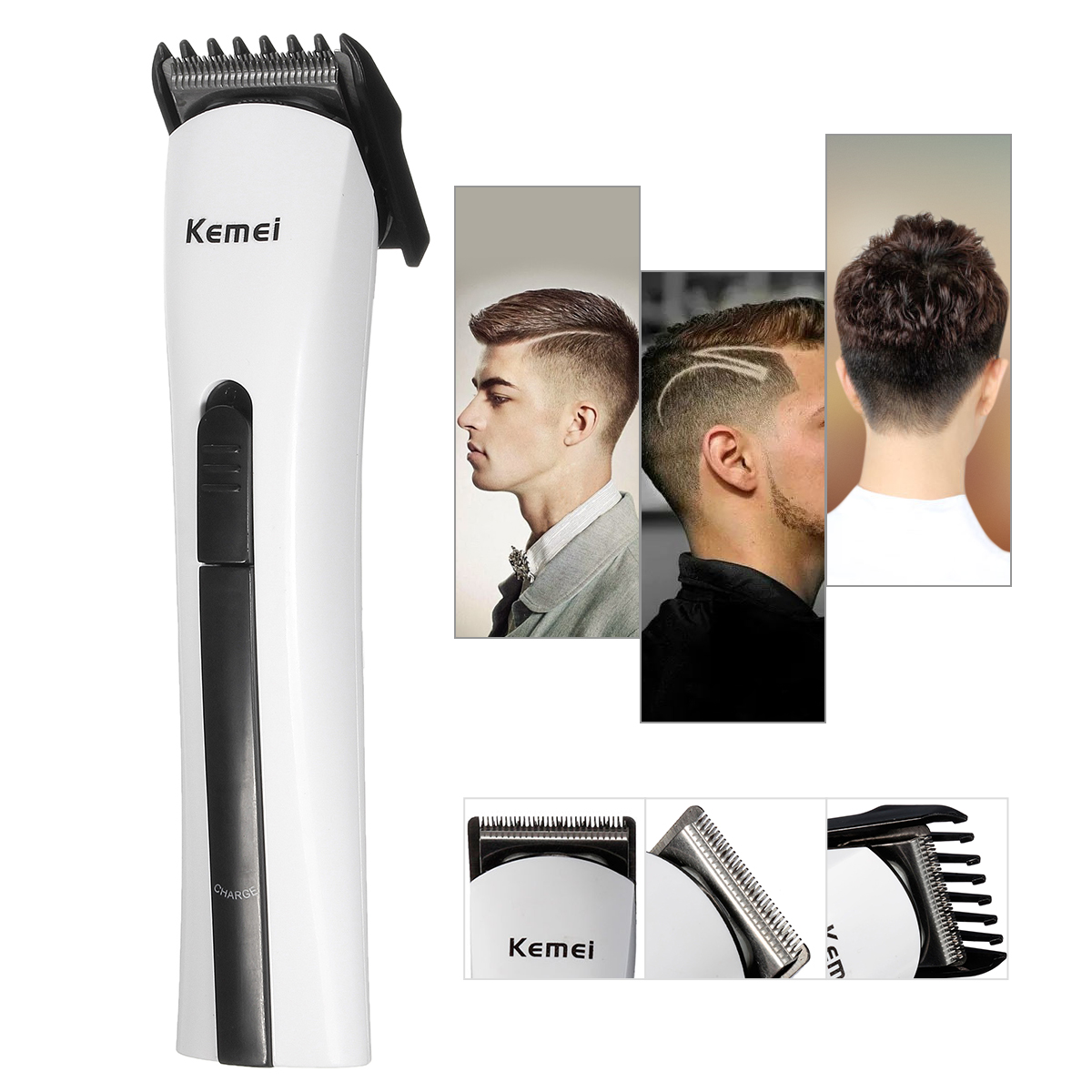 Electric Hair Groom Kit Clipper Mens Boy Professional Shaver Trimmer Haircut Cutter With US Adapter