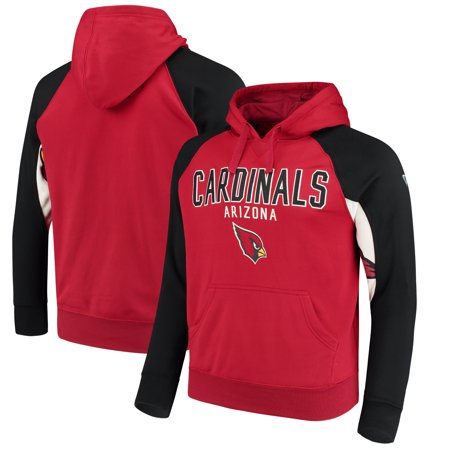 Arizona Cardinals Hands High Free Agent Pullover Hoodie - Cardinal/Black