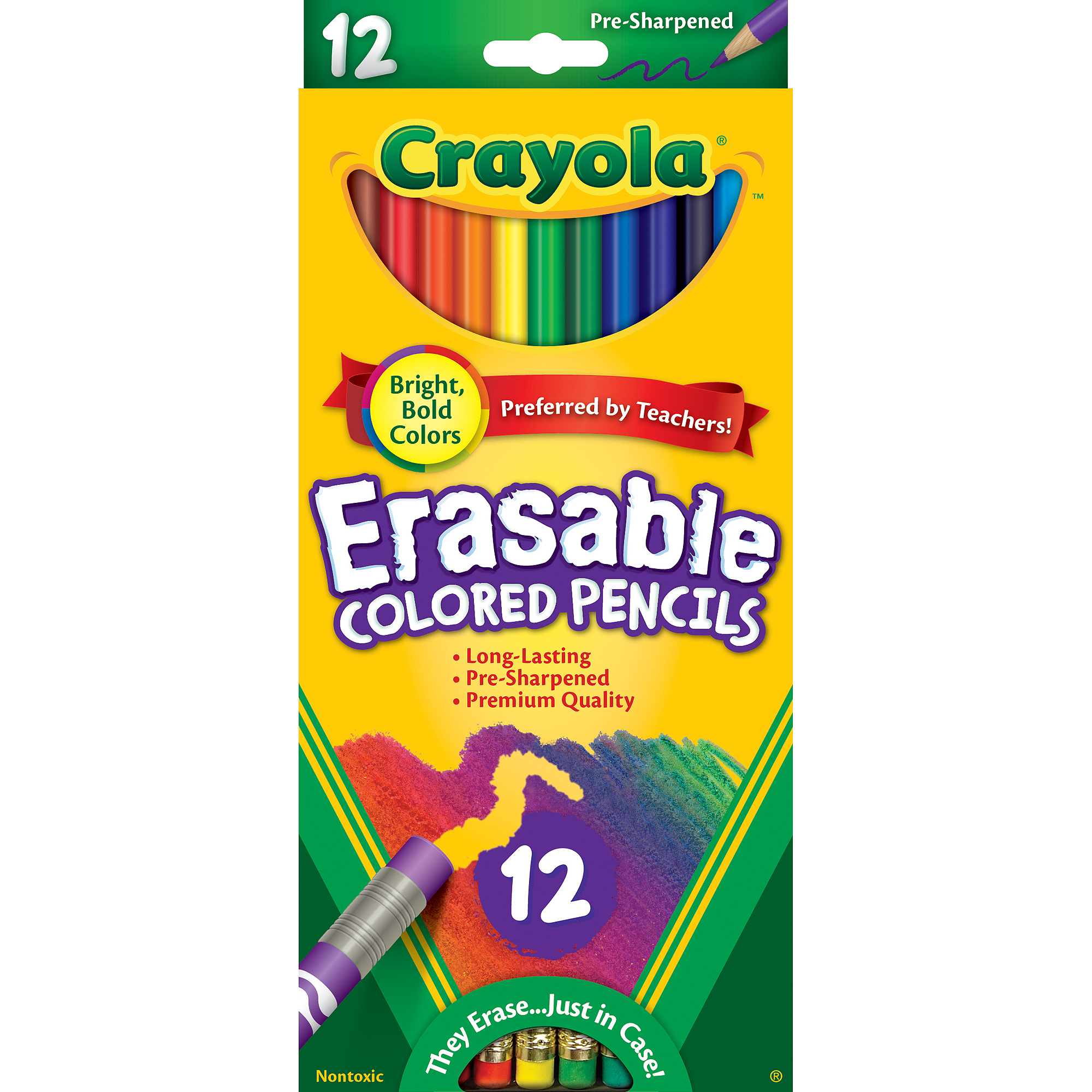Crayola Erasable Colored Pencils, 12pk