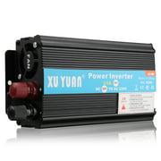 4000W 12V/24V DC to 110V/220V AC Solar Power Inverter LED Modified Sine Wave Converter Black