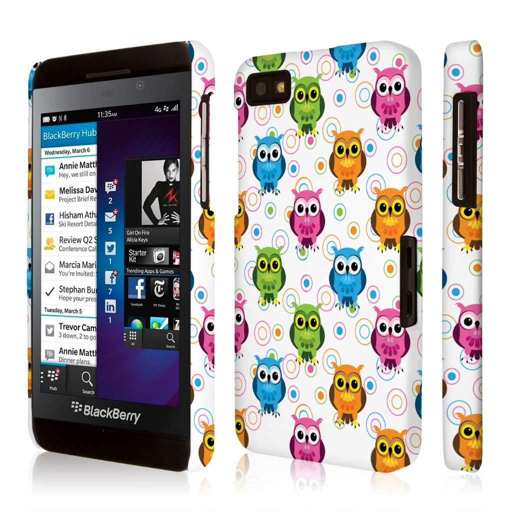 Blackberry Z10 Case, EMPIRE Signature Series One Piece Slim-Fit Case for Blackberry Z10 - Owl Pals