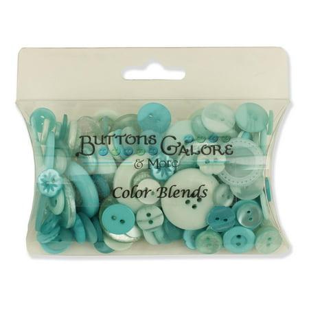 Buttons Galore CB112 Color Blend Buttons, 3-Ounce, Mint Color, 3 Shades of Mint - Mint Blue Color