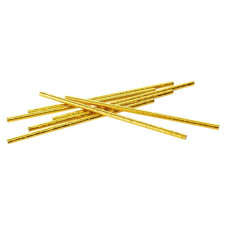 Party Paper Straws, Gold 24Pcs - LivingBasics™ - image 1 de 3