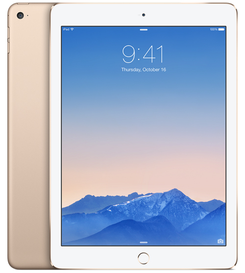 "Refurbished Apple iPad Air 2 64GB 9.7"" Retina Display Wi-Fi Tablet - Gold - MH182LL/A"
