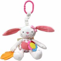New Baby Toy Soft Plush Rabbit Rattle Ring Bell