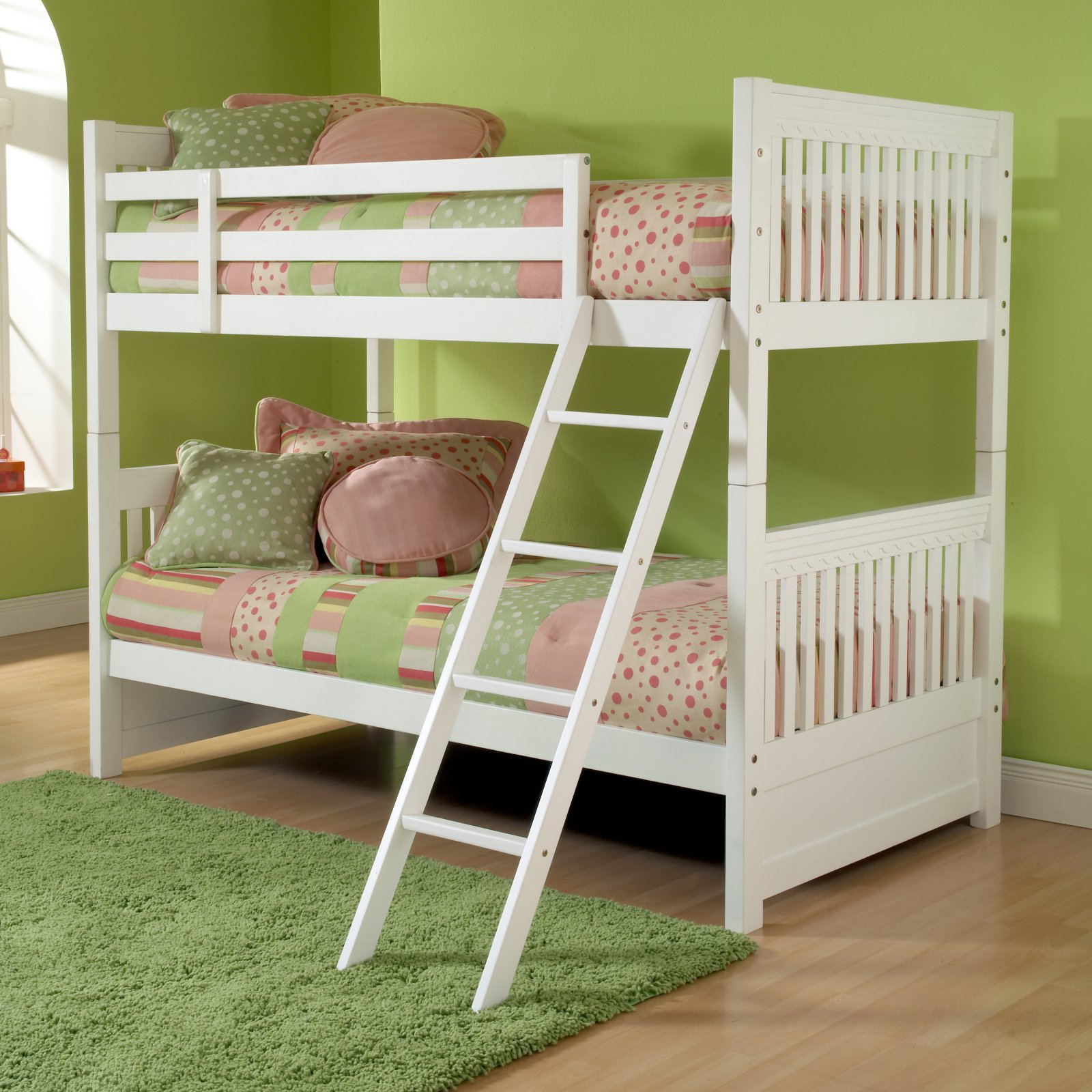 Hillsdale Furniture Lauren Twin Over Twin Wood Bunk Bed White